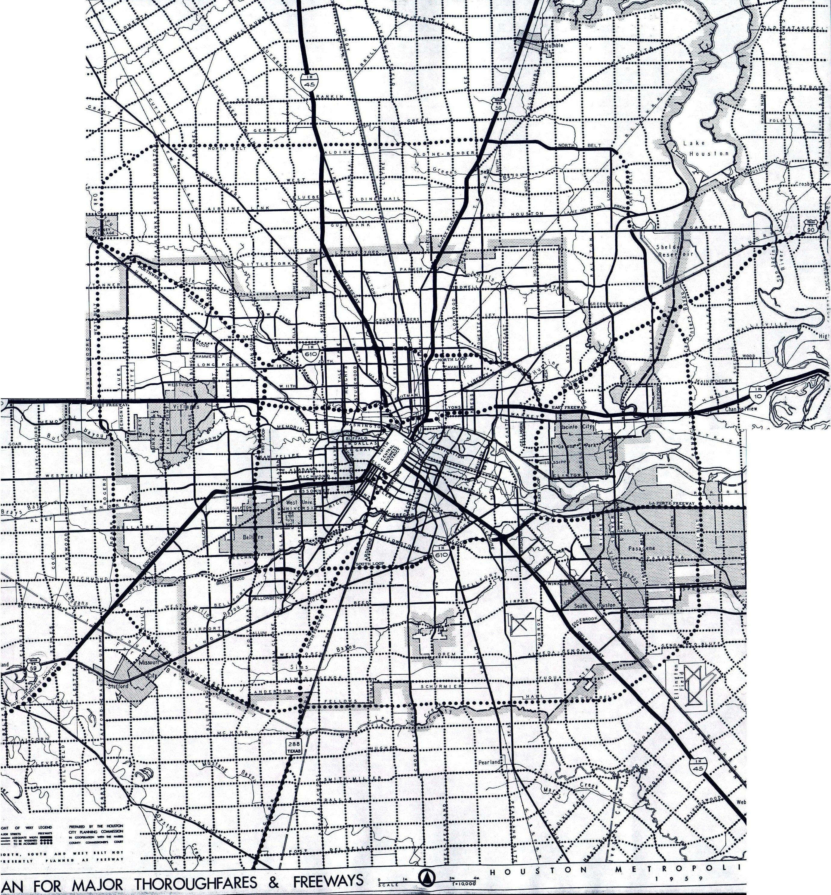 Houston And Dallas Map.Texasfreeway Com Houston Freeway Planning Maps
