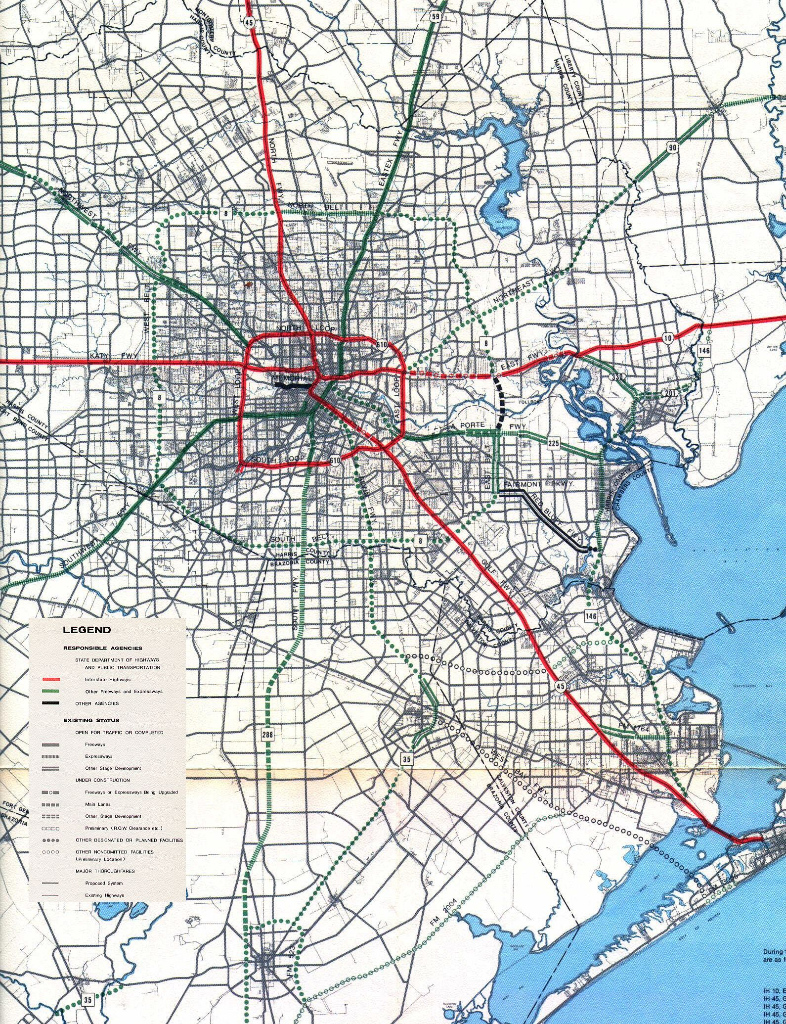 TexasFreewaycom Houston Freeway Planning Maps