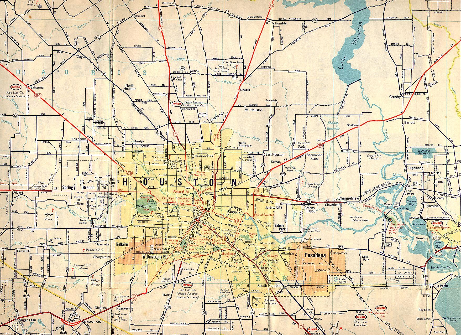 Map Of Houston Tx Old Houston Maps | Houston Past Map Of Houston Tx