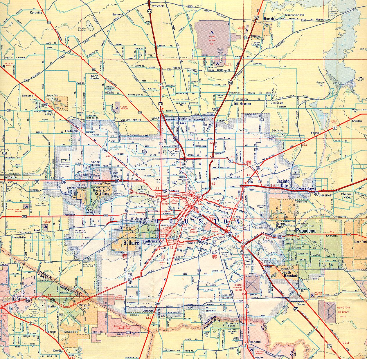 Old Houston Maps Houston Past - Mapa texas