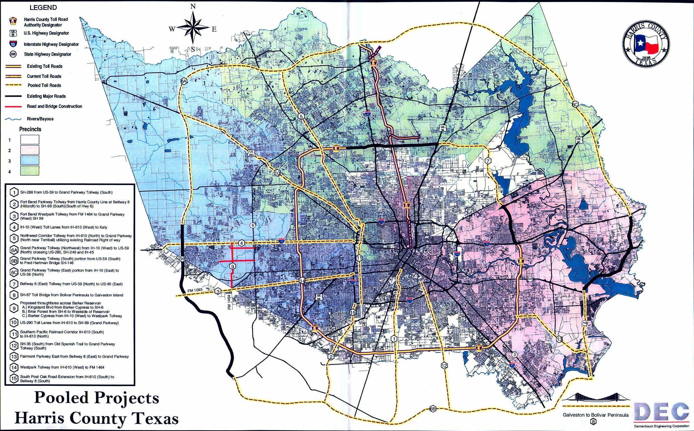 TexasFreeway > Houston > Future Freeway > Harris County Toll Road ...