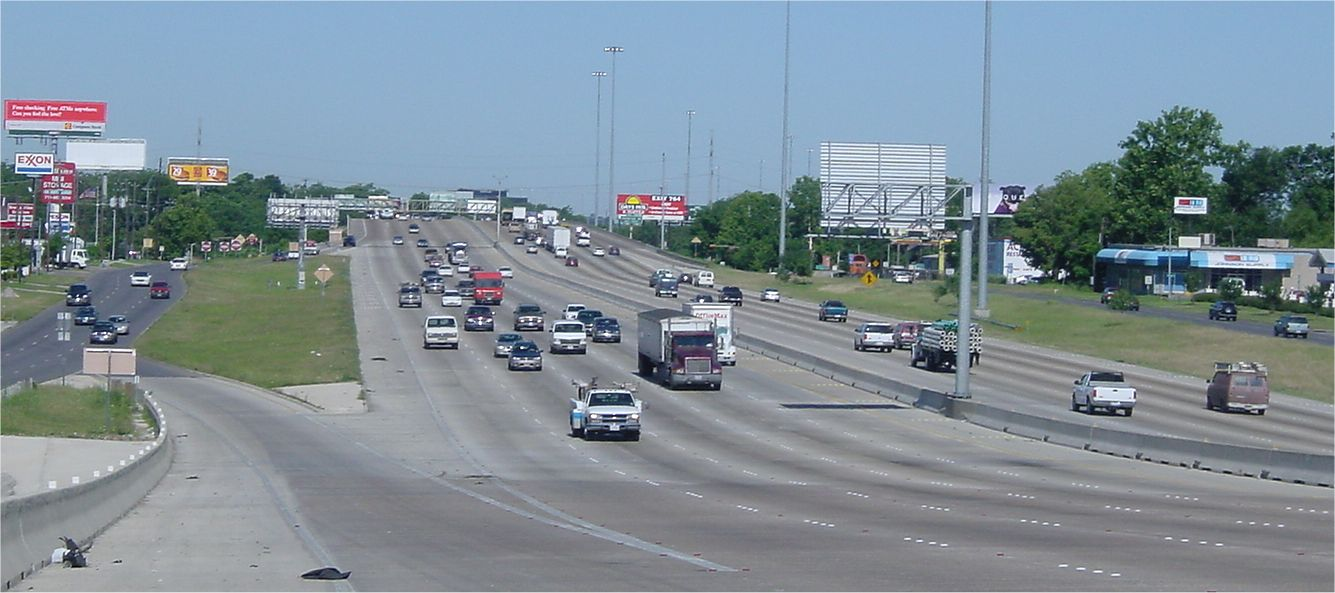 along the 10-lane freeway I 10 Freeway