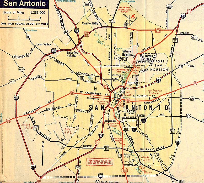 TexasFreeway > San Antonio > Historical Information > Old ... on virginia city map, monterrey map, indianapolis map, south tx map, united states map, salt lake city map, brazos river map, santa fe map, lackland air force base map, poteet tx map, district of columbia map, honolulu map, los angeles map, usa map, nacogdoches map, texas map, galveston map, bexar county map, ozona tx map, converse map,