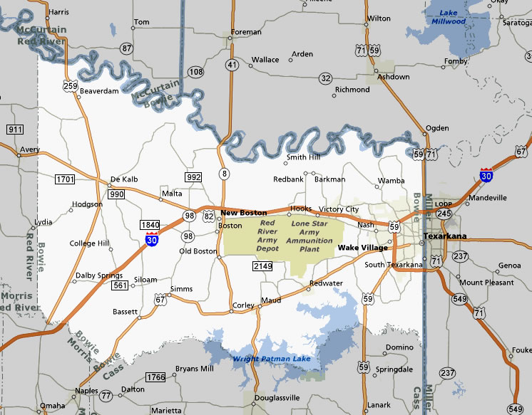 TexasFreeway > Statewide > Photo Gallery > Piney Woods Region > Bowie ...